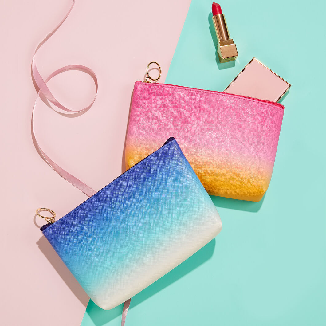 Ombre Pouches in color Pink