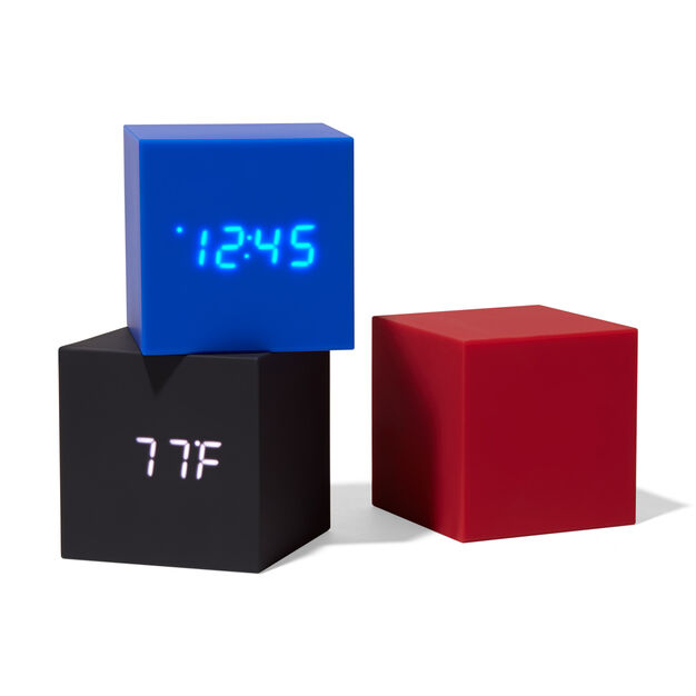 Color Cube Clocks in color Red