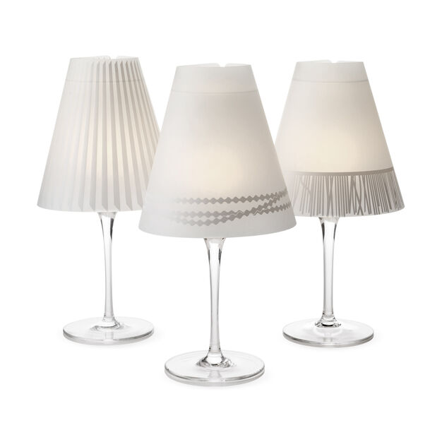 Wine Glass Lampshades in color