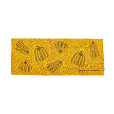 Yayoi Kusama Pumpkin Tea Towel in color Yellow