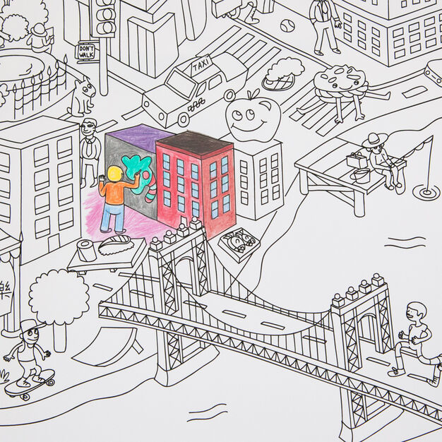NYC Coloring Poster Giant NYC in color NYC