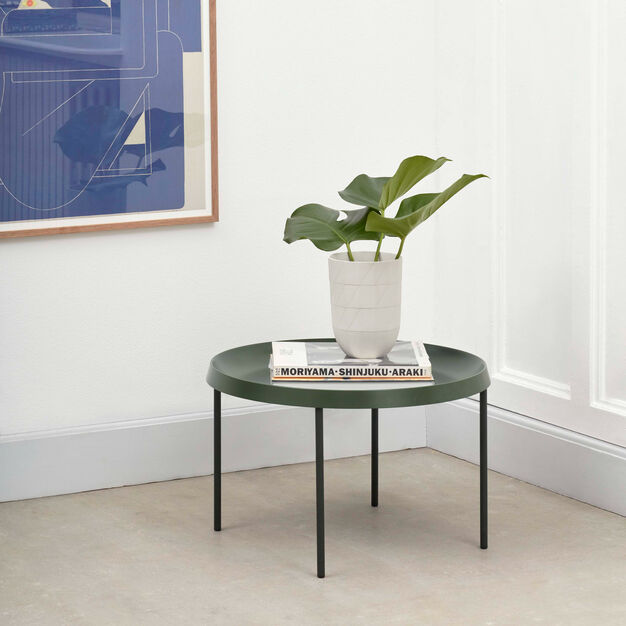 HAY Tulou Round Coffee Table in color Green
