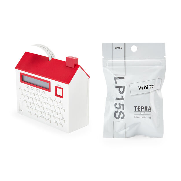 House Label Maker Tape in color White