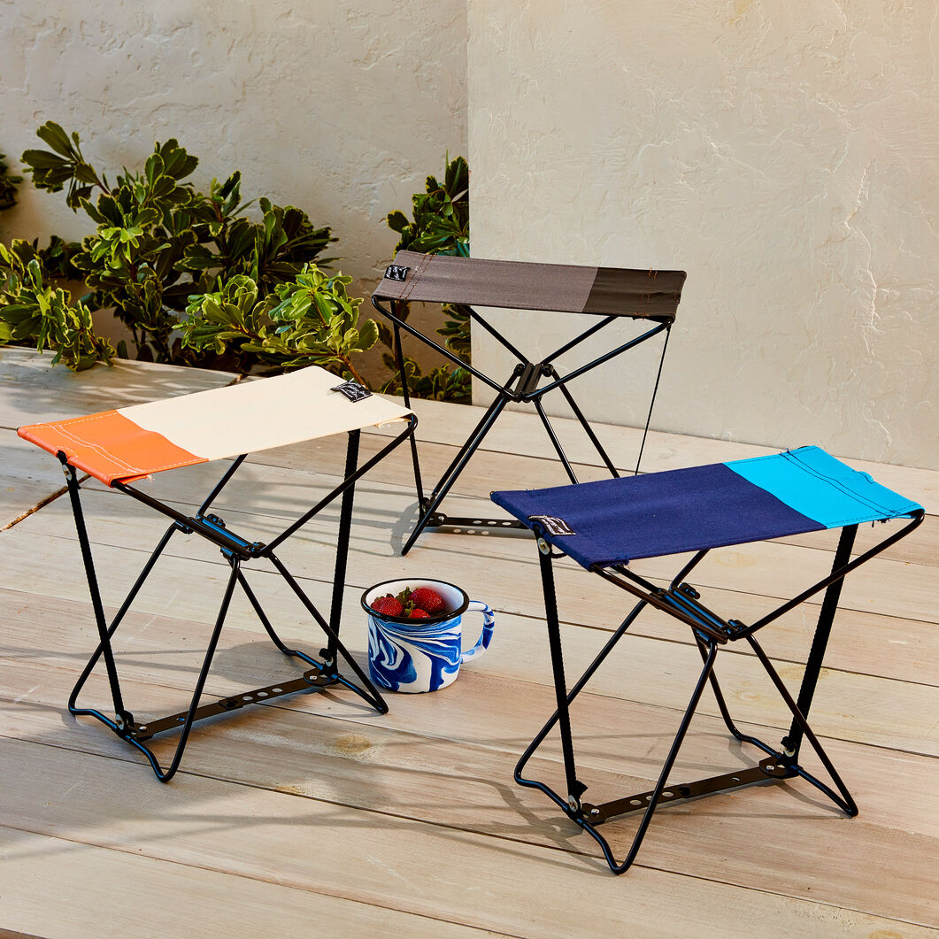 Mini Folding Stool in color Navy/ Blue