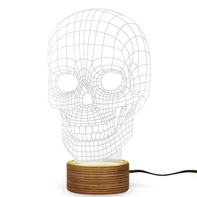 Skull Table Lamp in color