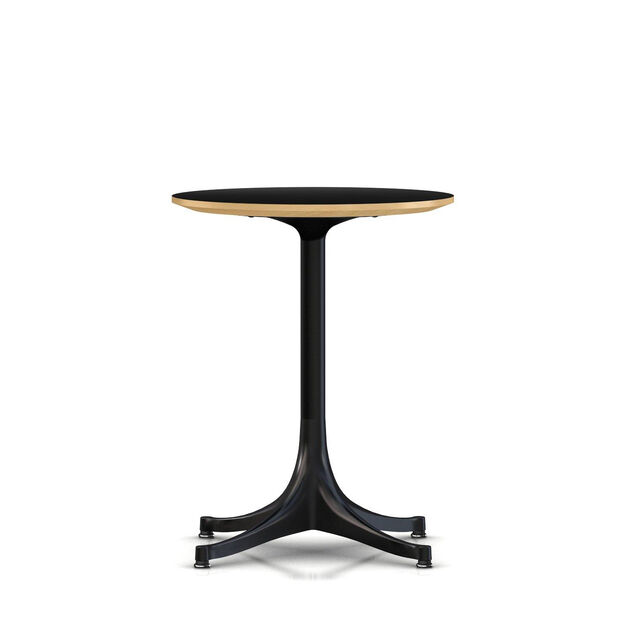 George Nelson Trade Pedestal Side Table In Color Black