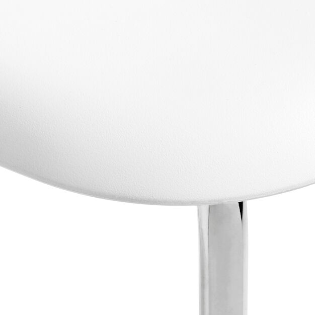 HAY Soft Edge P10 Stackable Chairs in color White/ White