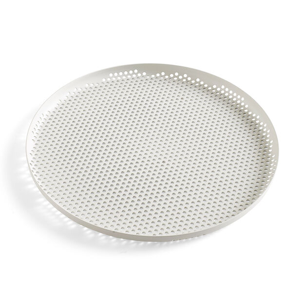 HAY Perforated Tray Large in color Gray