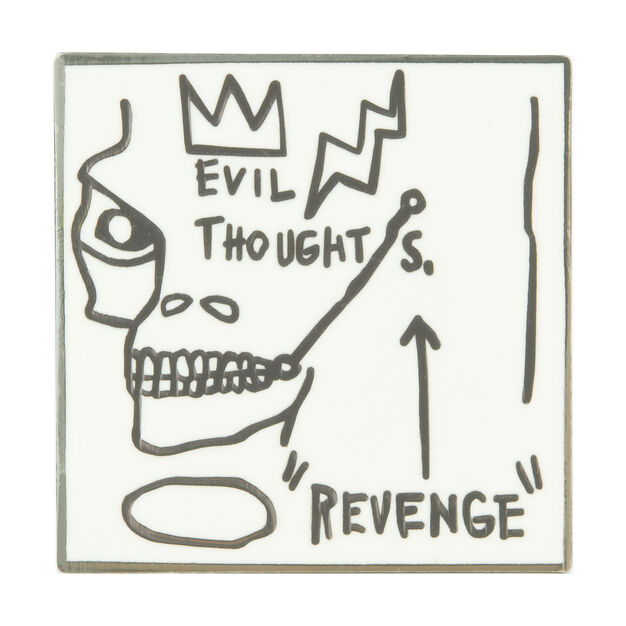 UNIQLO Jean-Michel Basquiat New York Evil Thoughts Pin in color
