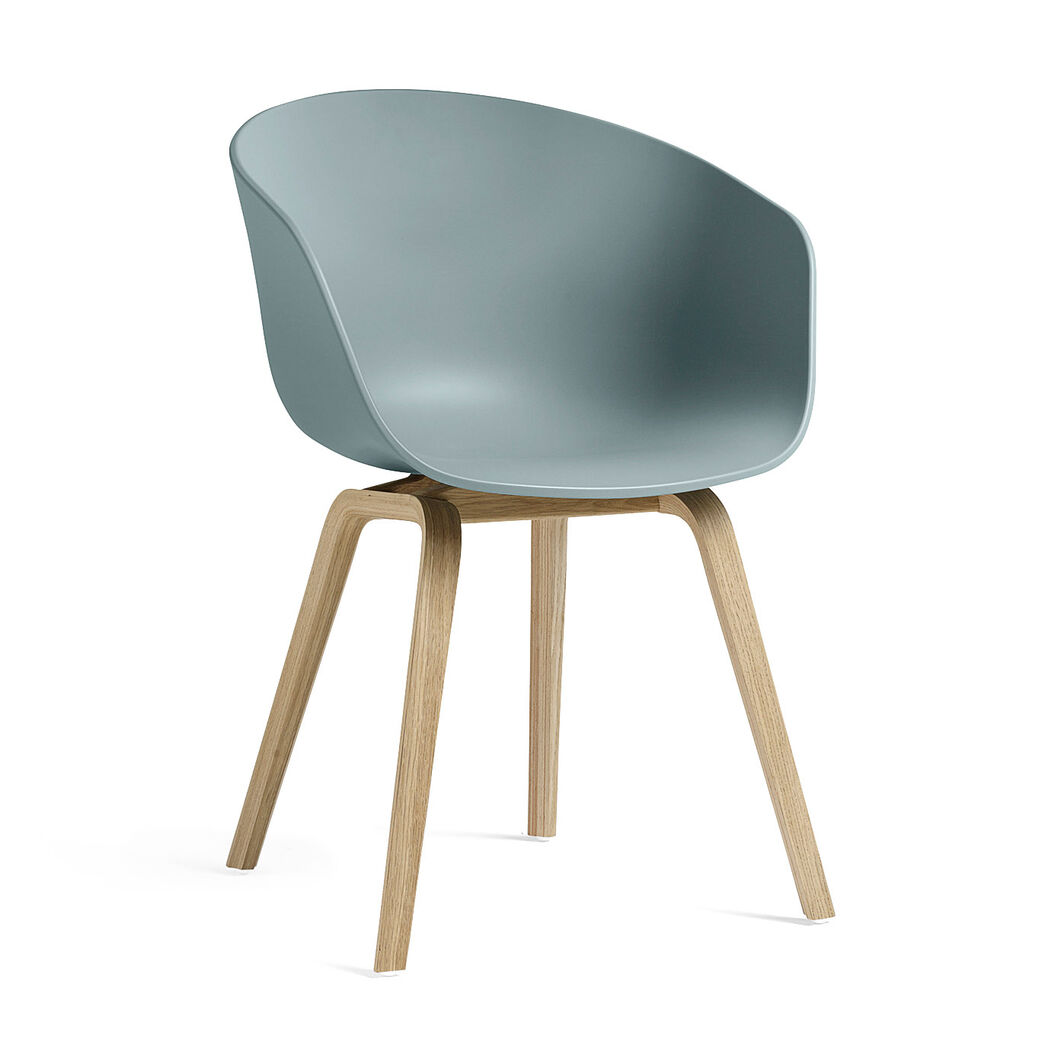 HAY About a Chair 22 in color Dusty Blue/ Oak