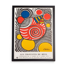 Alexander Calder: Galerie Bellint Framed Poster in color
