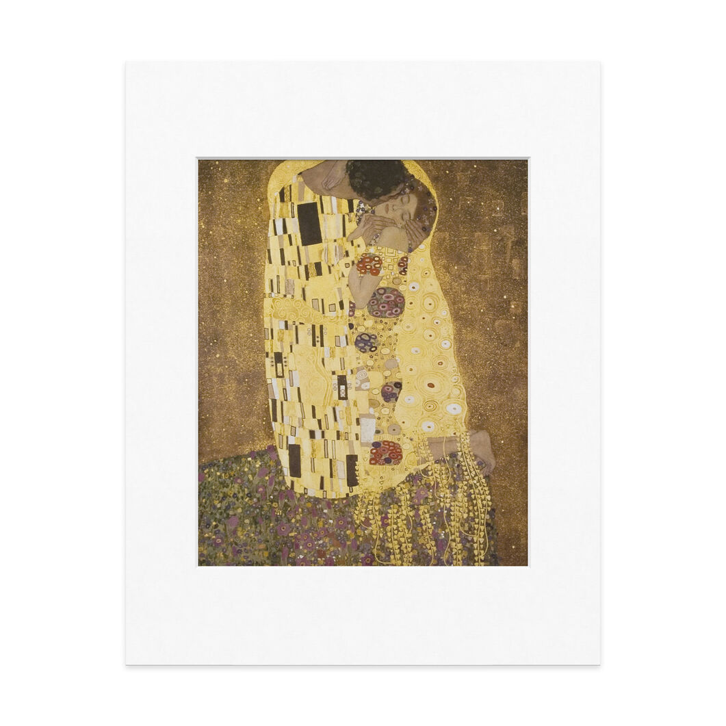 Matted Print  Klimt: The Kiss in color