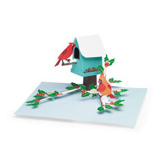 Cardinal Birdhouse Holiday Cards - Set of 8 in color