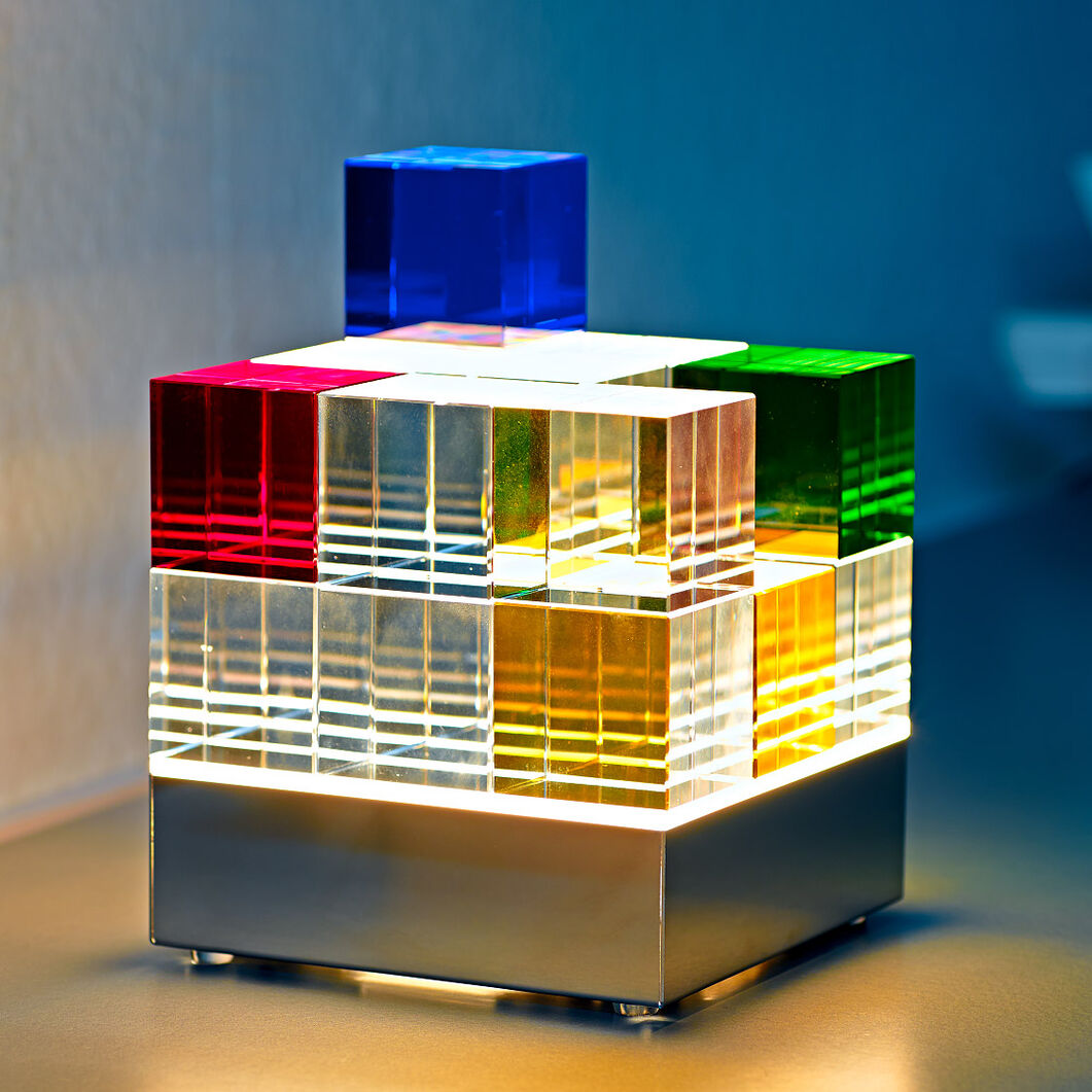 Cube Lamp in color