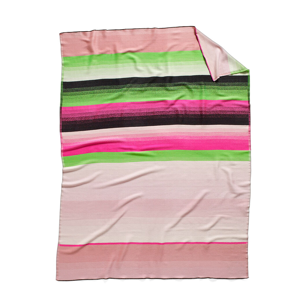 HAY Color Plaid Throw - No.4 Pink & Black in color Black/Green