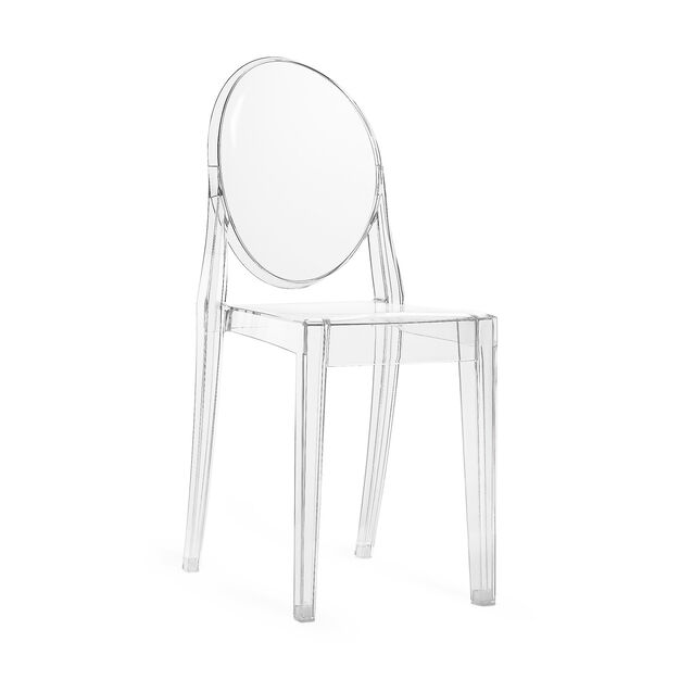 Victoria Ghost Chair by Kartell in color Crystal