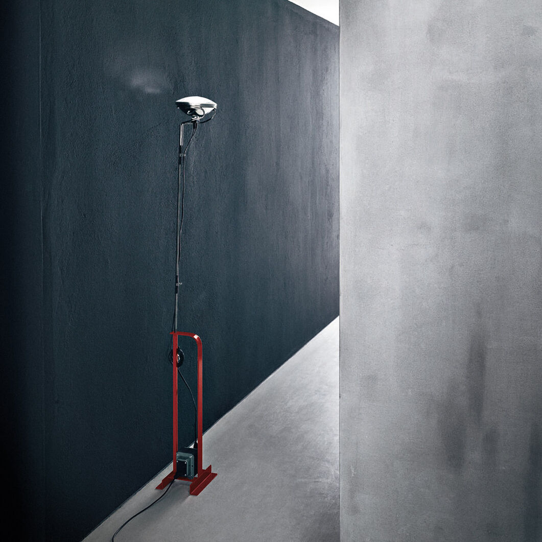 Flos Toio Floor Lamp in color Red