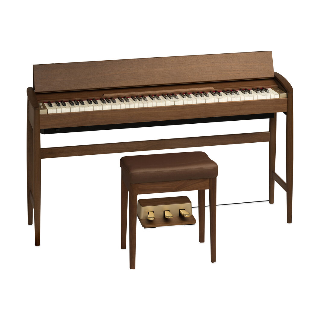 Roland Kiyola Piano in Walnut in color