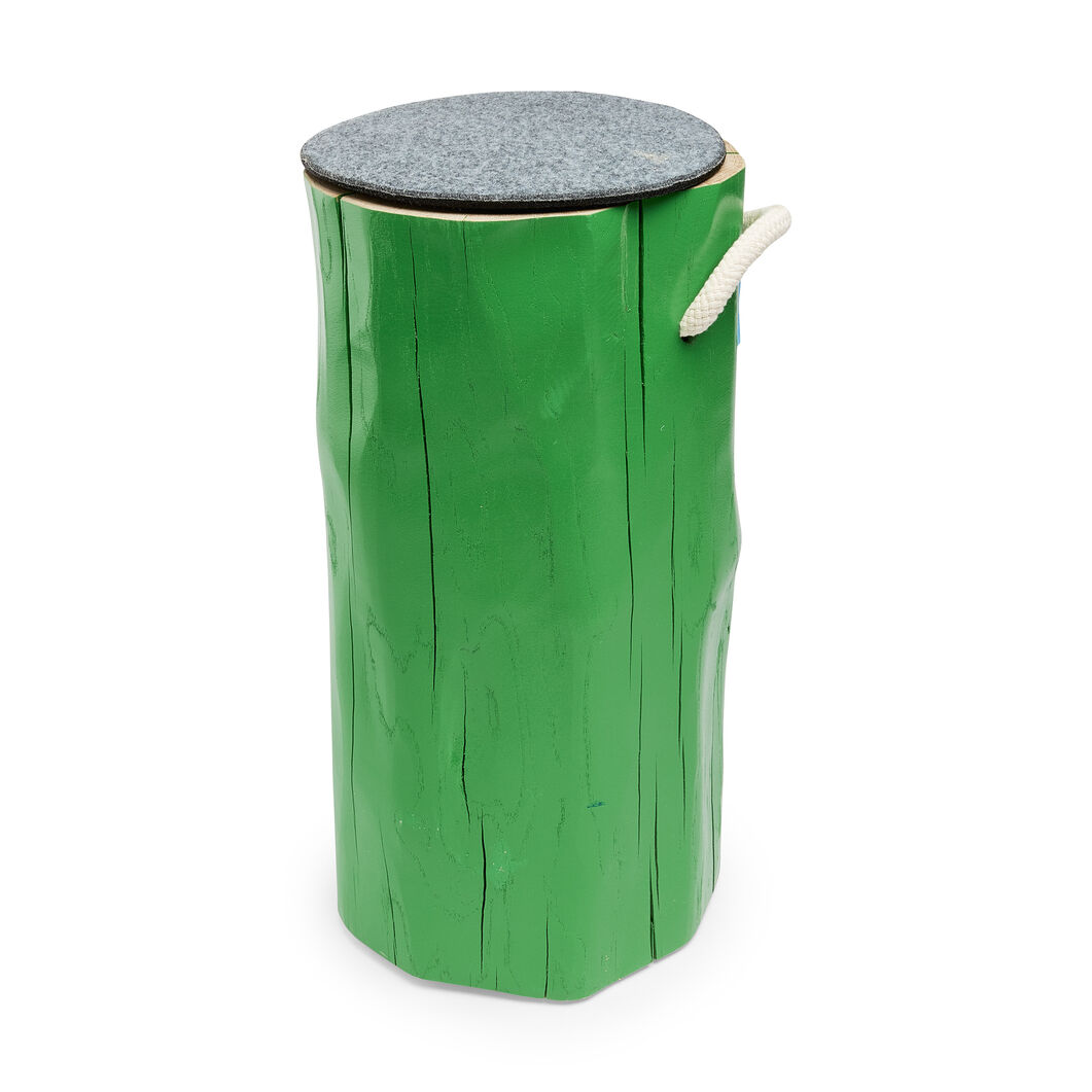 Painted Oak Stools in color Green