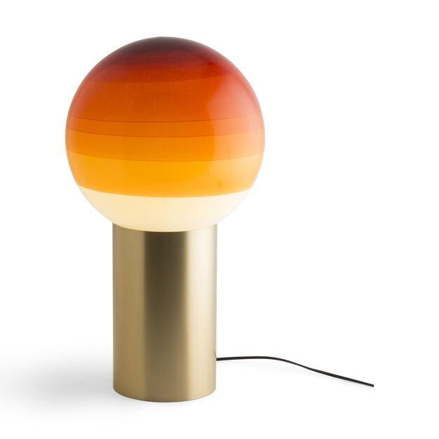 Dipping Table Lamp in color Orange