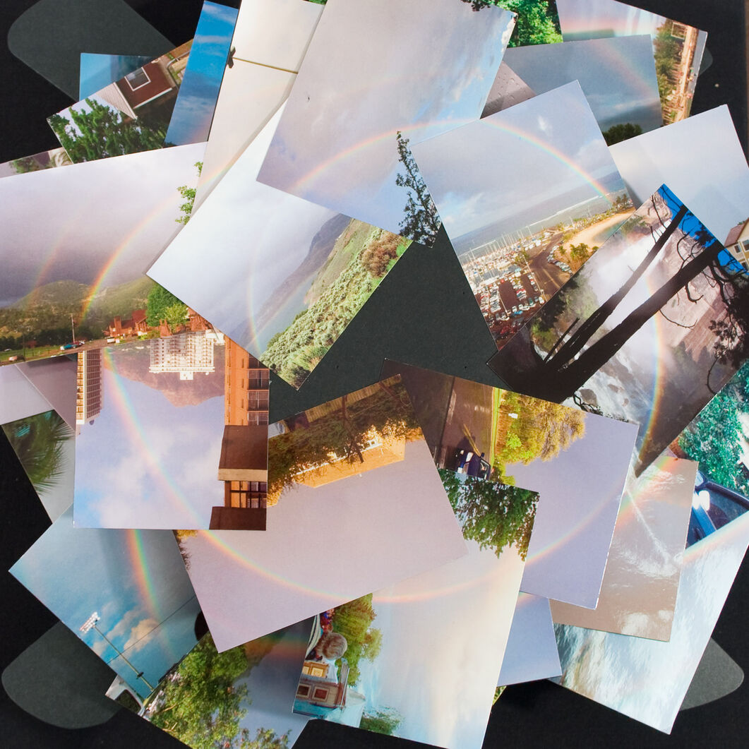 Peter Coffin: Untitled (Spiral Pop-Up Photo Album) in color