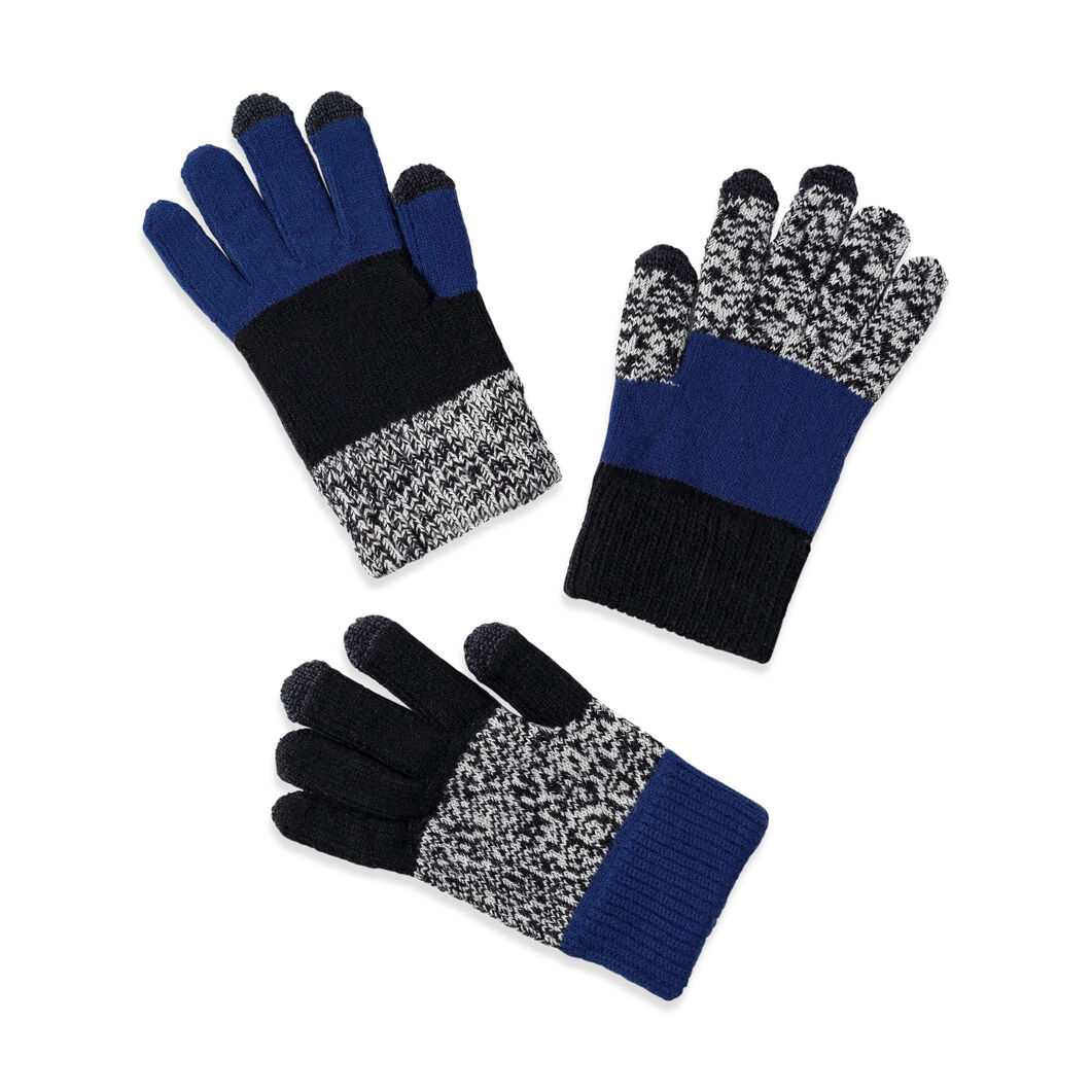 Pair and a Spare Smart Kids' Gloves in color Black/Blue