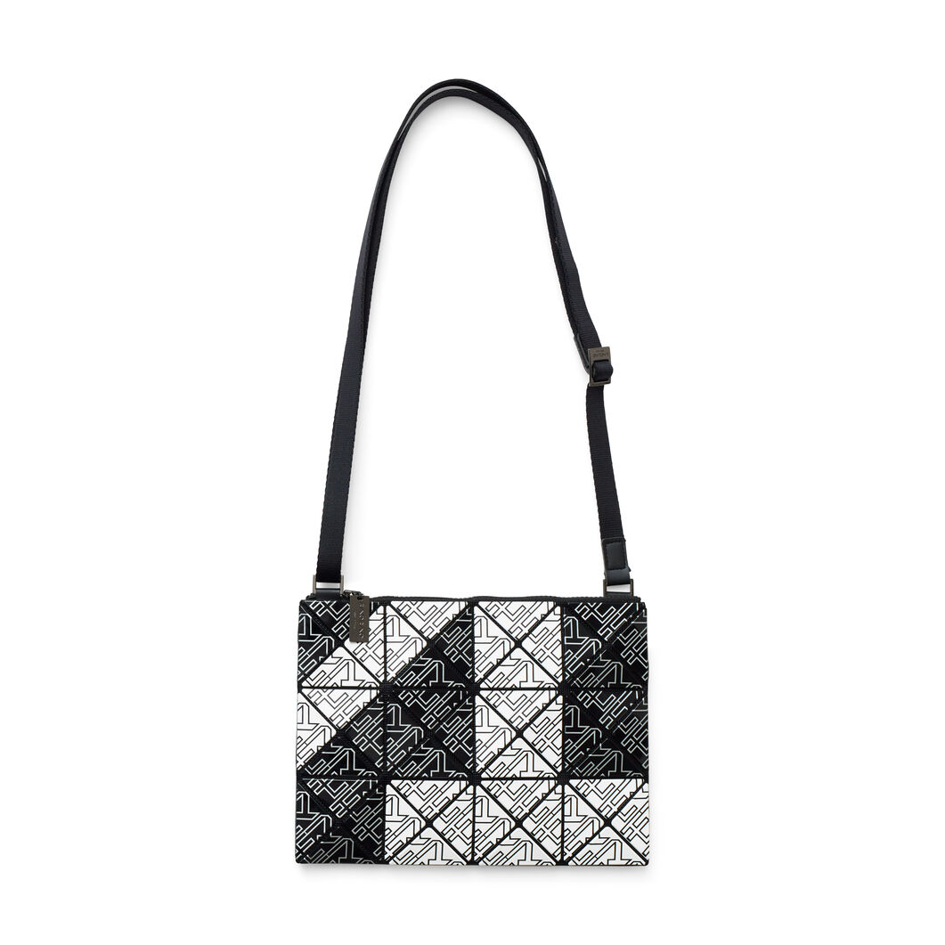 BAO BAO ISSEY MIYAKE Lucent for MoMA Crossbody Bag in color Black/ White