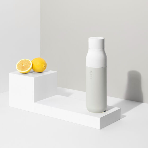 LARQ Self-Cleaning UV Water Bottle in color White