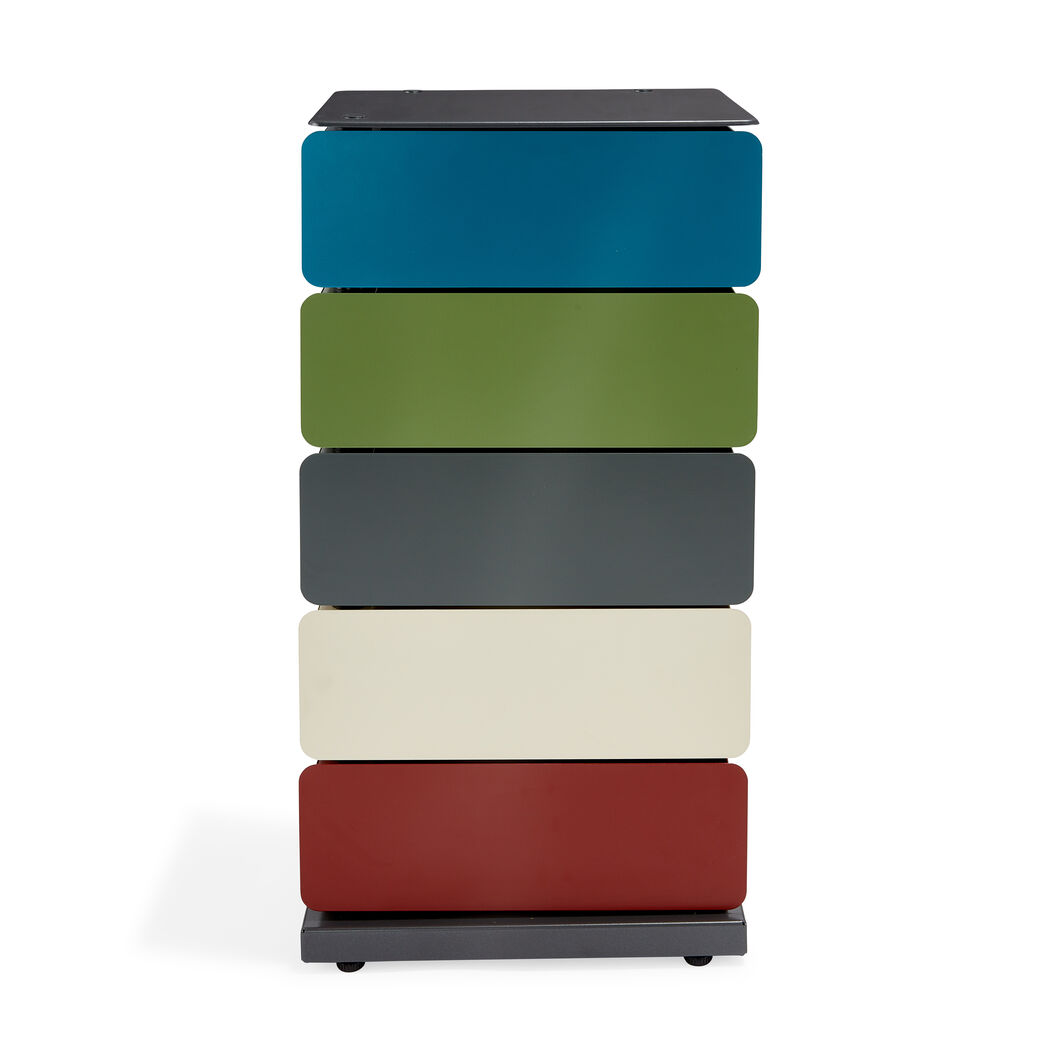 5-Drawer Pivot Cabinet in color