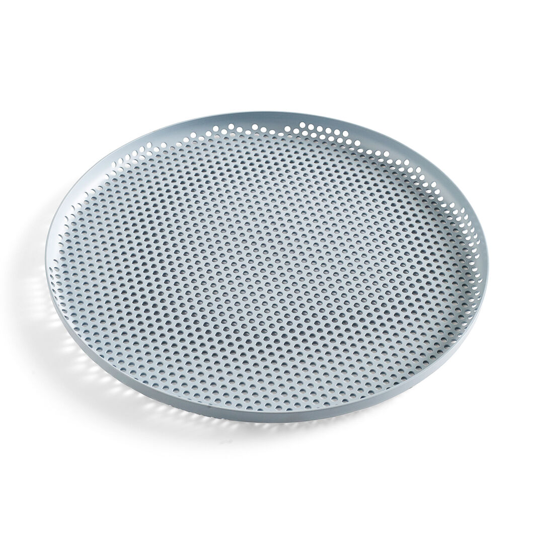 HAY Perforated Tray Large in color Blue