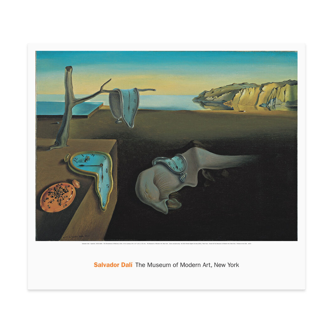 Poster Dali: The Persistence of Memory in color