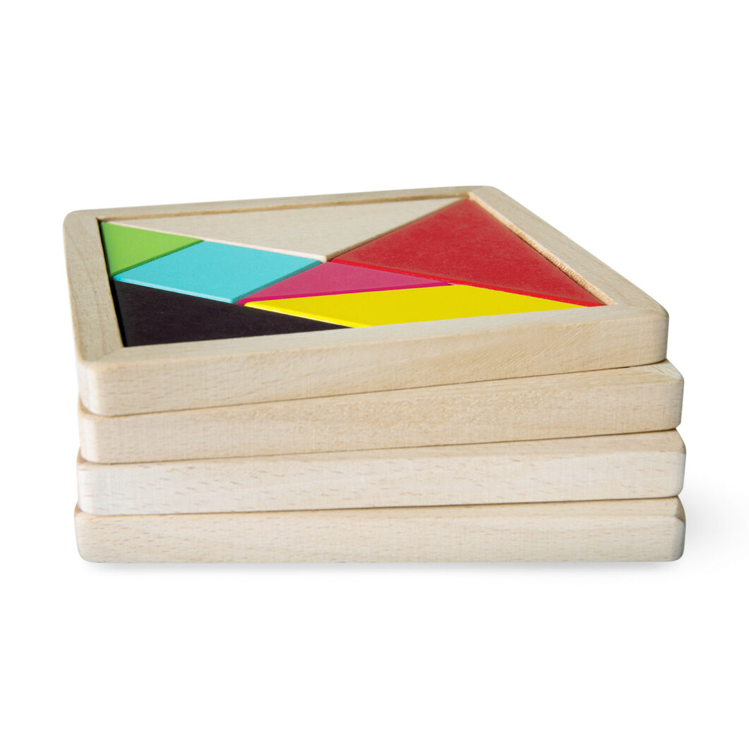 Tangram Challenge Game in color