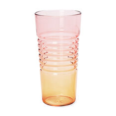 Ombré Milk Glasses in color Orange/Pink