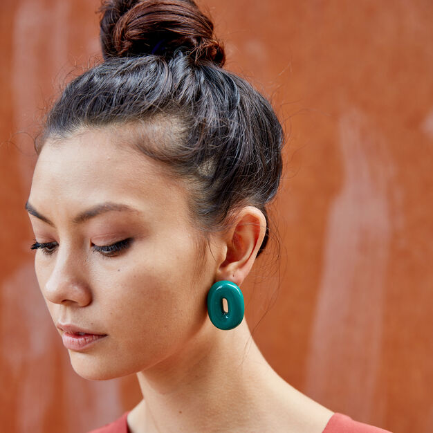 Uncommon Matters Urushi Wood Torus Earrings in color