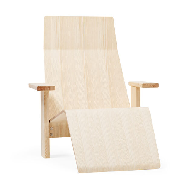 Quindici Chaise Longue in color Natural Ash