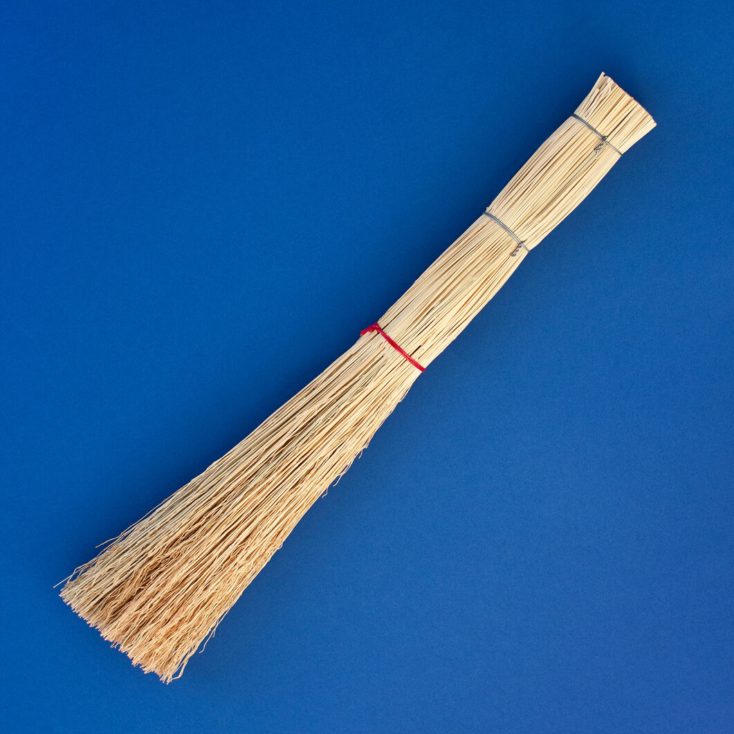 Stecco Handmade Straw Whisk Broom in color