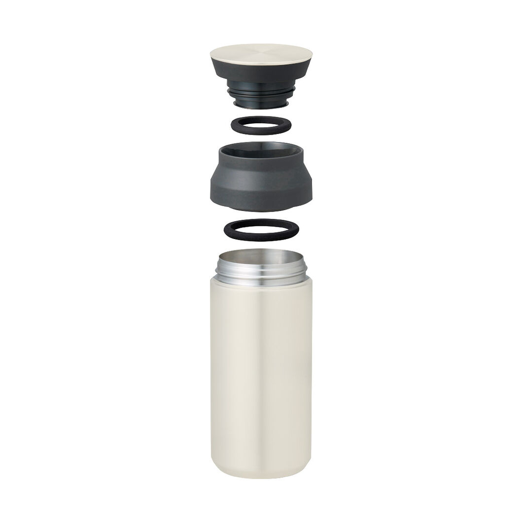 Kinto Vacuum Insulated Travel Tumbler in color White