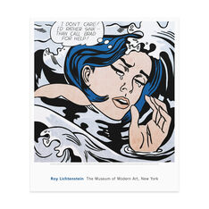 Poster  Lichtenstein: Drowning Girl in color