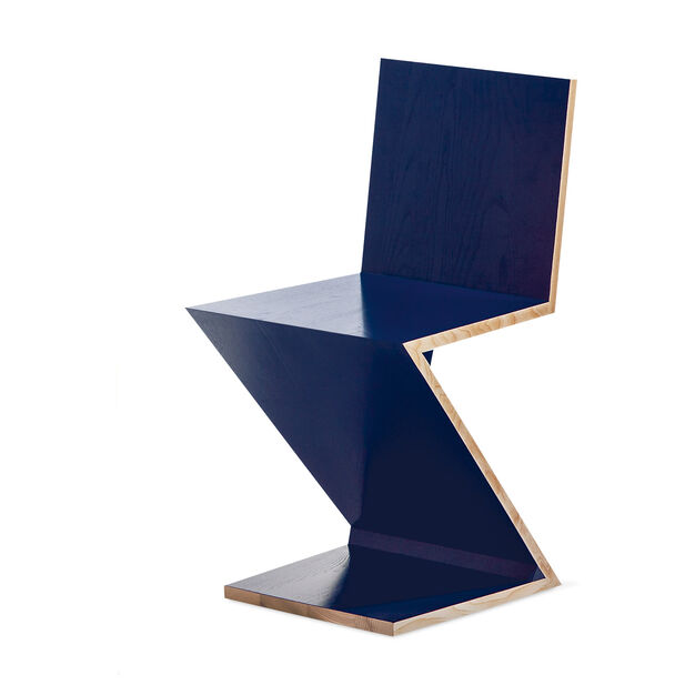 Zig Zag Chair in color Blue