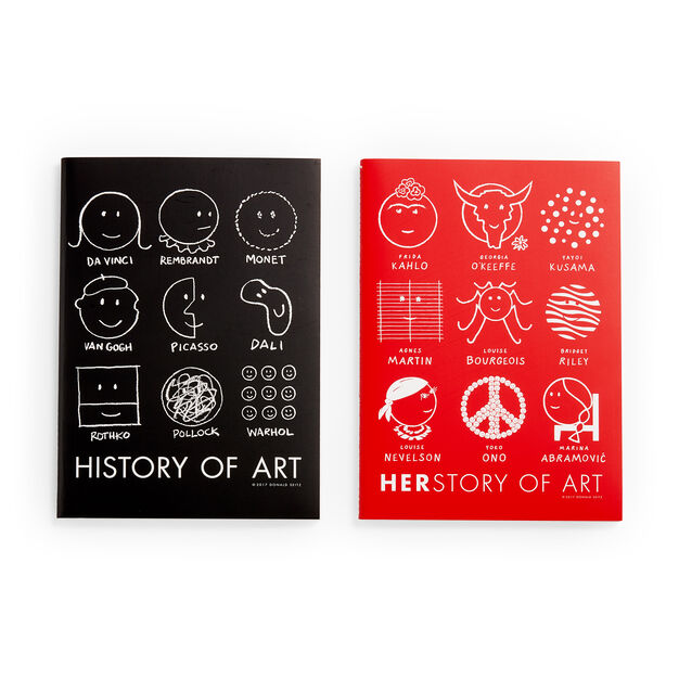 Herstory of Art Notebooks in color