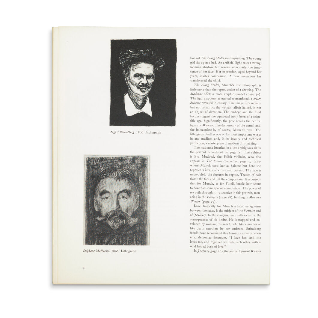 Edvard Munch: A Selection of His Prints from American Collections - Paperback in color