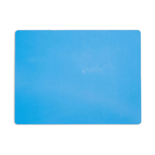 Dual-Sided Recycled Leather Placemat in color Blue/ Light Pink