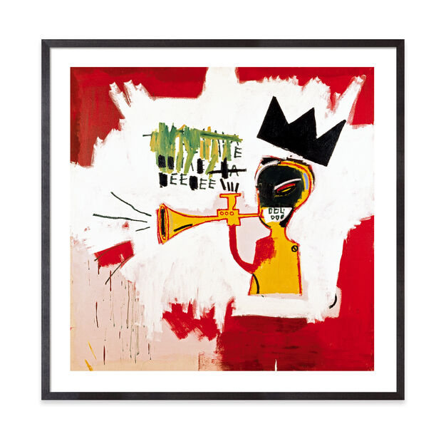 Basquiat: Trumpet Framed Print in color