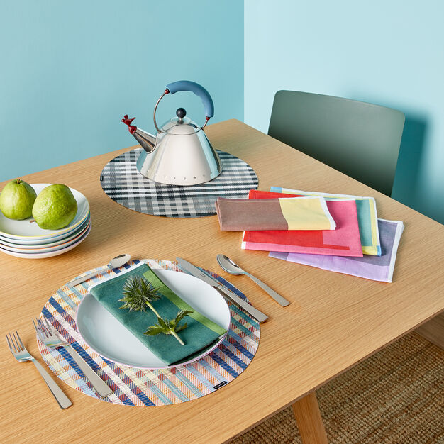 Chilewich Round Rhythm Placemat in color Wildflower