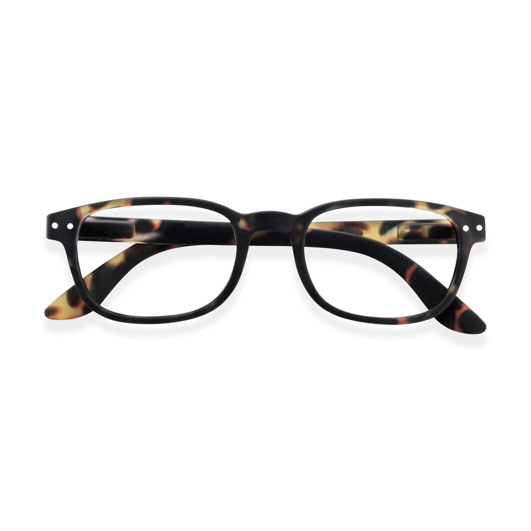 IZIPIZI Rectangular Reading Glasses #B in color Tortoise