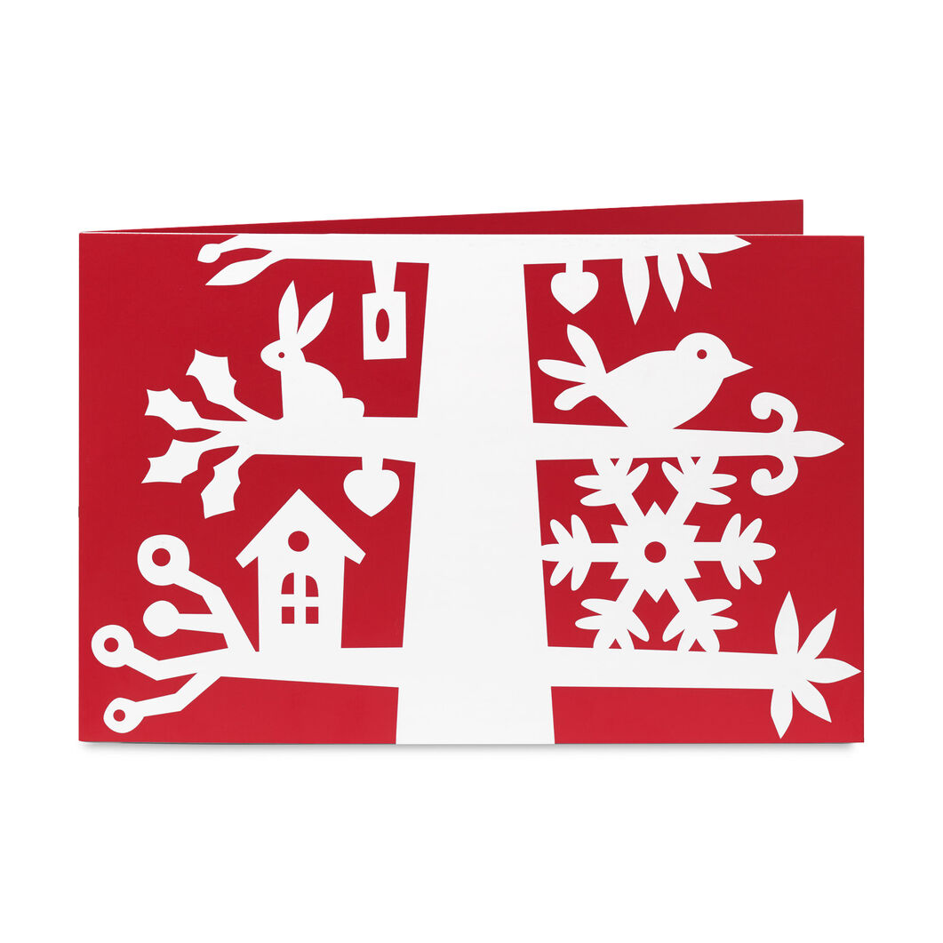 Scandinavian Tree Holiday Cards in color