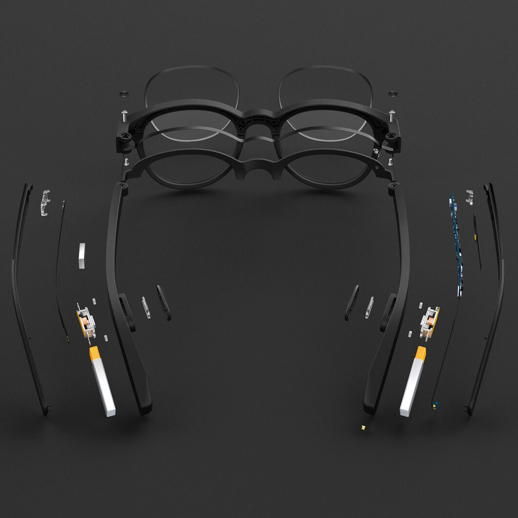 Vue Smart Reader Glasses in color Black