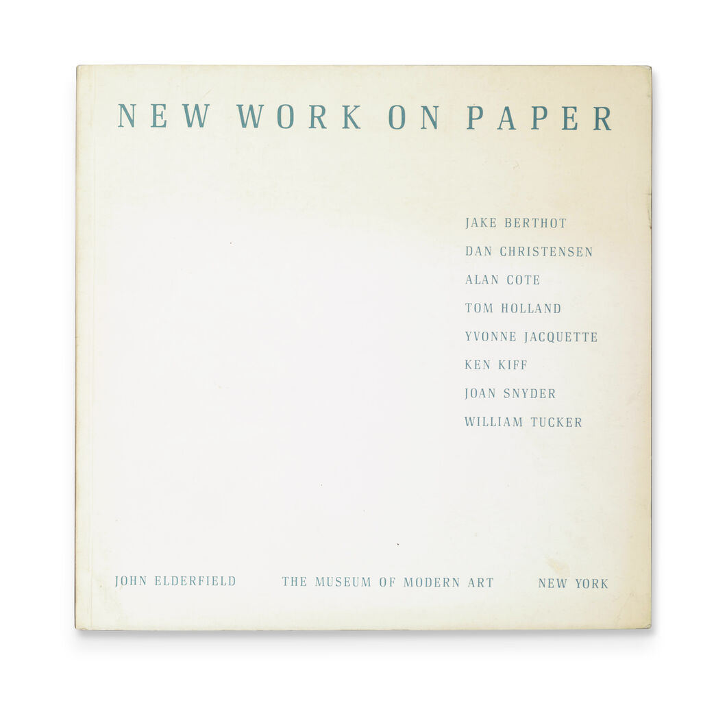 New Work on Paper 1 - Paperback in color