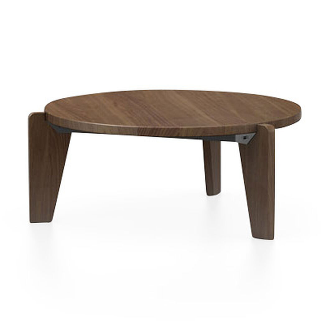 Guéridon Bas Coffee Table in color Walnut