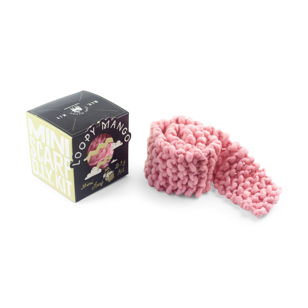 Loopy Mango DIY Kids Scarf Knit Kit in color Light Pink